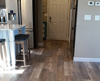 Flooring project completed by HomeTown Building Center